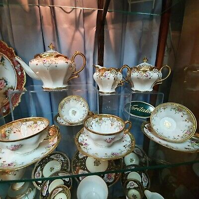 Exquisite Hand Painted And Gilded Noritake Nippon Tea Set • 750£