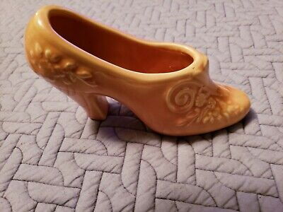 Vintage Pink Pottery High Heel Shoe Planter Made In USA • 7.15£