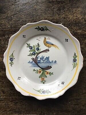 French Faience Plate Cockerel  • 55£