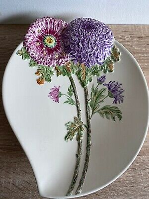 Large Beswick Ware Dish Plate Chrysanthemum Design - Hand Painted (R. E. HINDS) • 35£