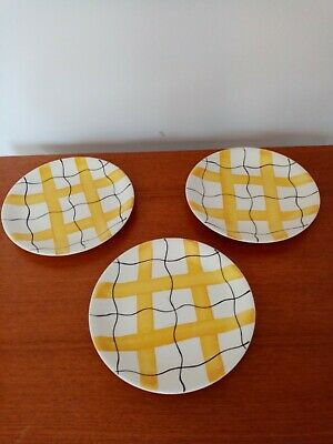 J And G Meakin Studio Ware Side Plates. Yellow. Retro Vintage 1960s • 15.50£