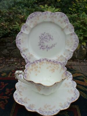 Wileman Foley Pre Shelley Cup Saucer Plate Trio 2 Colours Gilding Complete Nice • 129.95£