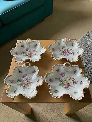 4 Dresden China Dishes In Excellent Condition • 38£