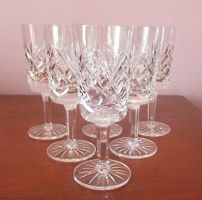 6 X Crystal Wine Glasses, Approx. 6  Tall • 14£