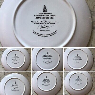 Royal Doulton - King Henry VIII & His 6 Wives, Collectors Gallery Edition Plates • 50£