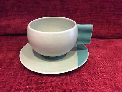 Carlton Ware Art Deco Cup And Saucer • 45£