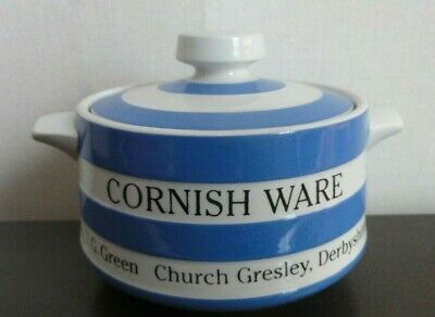 T G Green Cornish Ware Advertising Small Covered Soup / Sugar • 22£