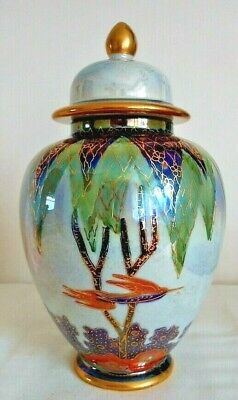 Carlton Ware Limited Edition, Tree & Swallow Lustre Ginger Jar, 141/150 • 125£