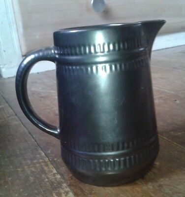 Prinknash Pottery Jug 1970's Vintage Metallic Grey/Black  • 5.95£