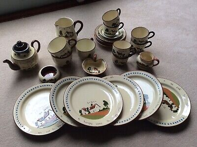 VINTAGE WATCOMBE DEVON TORQUAY POTTERY COLLECTABLE MOTTO Pieces, 26 Inc ST IVES • 35£