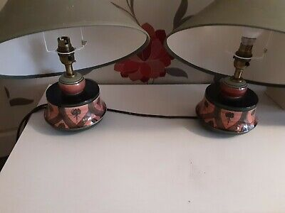 Jersey Pottery Lamps 2 Bedside Lamps Circa  80s To 90s Hardly Used • 25£