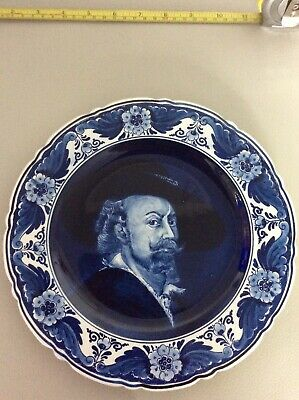 Vintage - DELFT BLAUW - Hand Painted - Decorative Plaque - Made In Holland • 10£