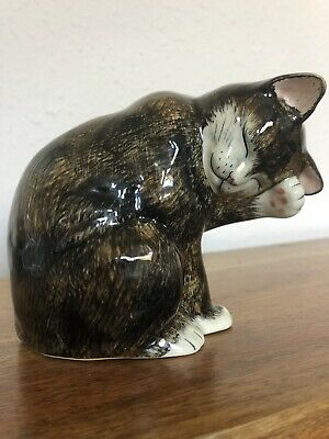 Vintage Babbacombe Pottery By Lownds Pateman -  Sitting Cat Ornament Figure • 10£