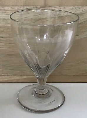 Georgian Handblown Petal Moulded Drinking Glass - Pontil - Domed Foot. • 29.99£