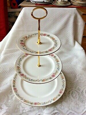 ROYAL ALBERT Belinda  Bone CHINA 3 TIER CAKE STAND  • 12£