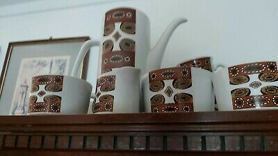 Vintage J & G Meakin Maori Coffee Set 60s Retro Quirky Unusual • 10£