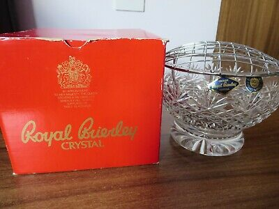 Boxed Royal Brierley Crystal 6 Inch Table Vase • 19.95£