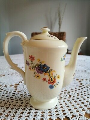 Vintage Crown Staffordshire Bone China Floral Design Coffee Pot In Excellent Con • 4.70£