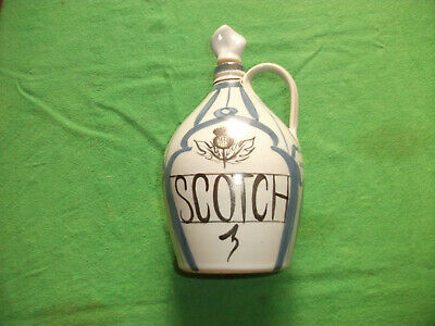 Vintage Buchan Ware Portobello Thistle Scottish Stoneware Scotch Decanter • 15£
