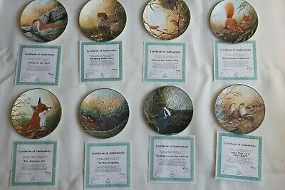 Complete Set Of 8 Royal Doulton Rollinsons Portraits Of Nature Plates Boxed • 17.99£