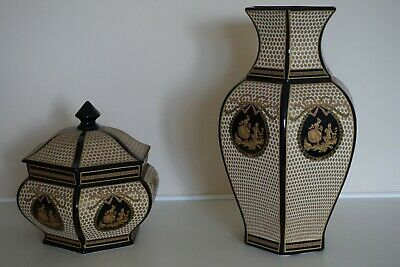 Stunning Victorian Vase And Container • 20£