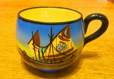 Watcombe Torquay Pottery Egyptian Dhow Pattern Large Cup • 3.50£