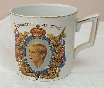 Vintage Edward VIII Commemorative Coronation Cup 1937 • 1£