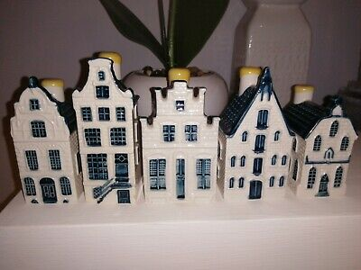 5x KLM Bols Blue Delfts Houses Collectable 7, 21, 70, 76, 78  Holland  • 48£