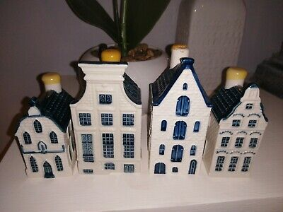 4x KLM Bols Blue Delfts Houses Collectable 7, 63, 54, 17 Holland  • 10.50£