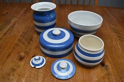 Bundle Of Vintage TG Green Cornish Kitchen Ware Blue & White + Some Unbranded • 8£