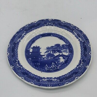 Vintage Ringtons Blue White Willow Pattern Plate By Wade Cake Sandwich  • 4.99£