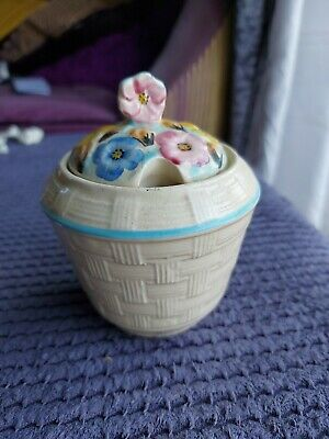 Arthur Wood Vintage  Hand Painted Floral Honey Pot • 5£
