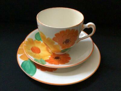 1920's/30's Grays Pottery Hand Painted Marigold Trio Cup Saucer & Side Plate • 29.99£