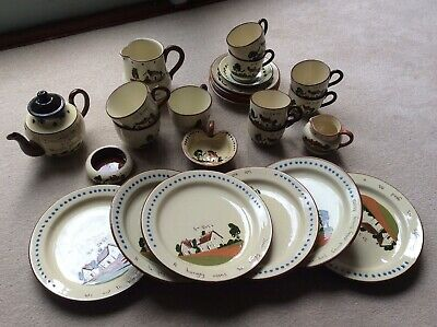 VINTAGE WATCOMBE DEVON TORQUAY POTTERY COLLECTABLE MOTTO Pieces, 26 Inc ST IVES • 25£