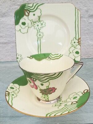 Royal Doulton Art Deco Glamis Variation Trio • 19.99£