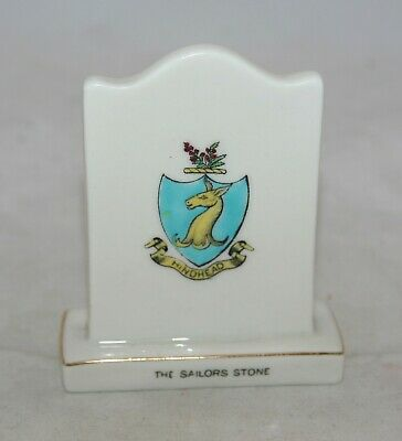 Vintage Arcadian China Crested The Sailor's Stone 'Minehead' • 0.99£