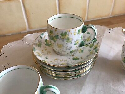 Vintage ABJ Grafton 1930s China 6 Setting Coffee Set 'Oulton' • 10£