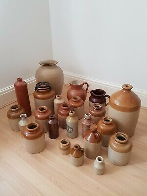 Victorian Stoneware Pot Jug Flagon Bottle Collectable Collection • 9.99£