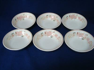 Boots Hedge Rose 7  Cereal Bowls X 6 • 30£