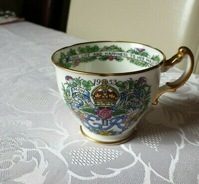 Hammersley Bone China Tea Cup 1953 Coronation Elizabeth II - A Perpetual Mement • 0.99£