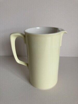 Branksome China Tall Creamer Jug, Primrose Yellow Exterior & Dove Grey Interior • 12.50£