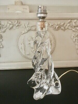 Sevres France Twist Crystal Glass Lamp Base.Signed Under.10.75 Inches In Height. • 80£