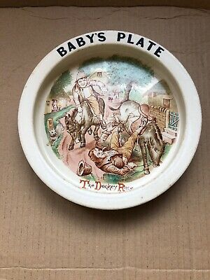 Carlton Ware  The Donkey Race  Baby's Plate - • 10£