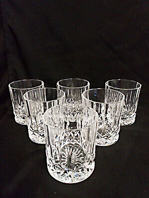 Beautiful Vintage Set Of 6 Crystal Cut Glass Whisky Tumblers • 16£