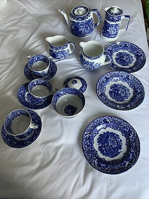 George Jones And Sons Abbey Blue And White 1790 Pottery Bundle • 10£