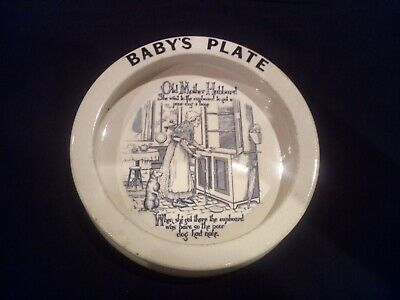Early Carlton Ware Baby's Plate C.1900 Old Mother Hubbard • 4.99£