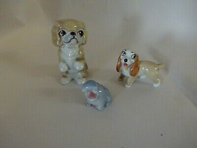 Three Wade Pieces Lady Baby Hippo And Chee Chee • 5£