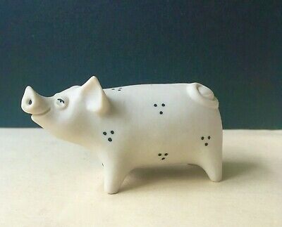 Highbank Porcelain Lochgilphead Lovely Little White Pig - Perfect Condition. • 2.99£