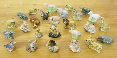 Collection Of 26 Vintage Wade Whimsies (inc. Rare Duck & Rabbit/Hare) • 35£