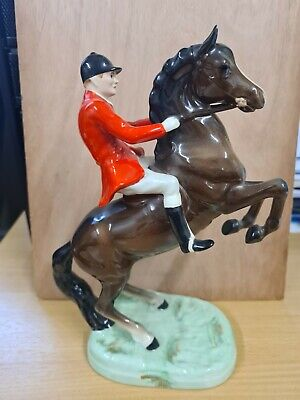 Beswick  Huntsman On Rearing Brown Horse No 858   SEE DETAILS • 38£